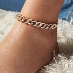 men anklet 9mm cuban anklet cuban anklet gift for girlfriend gold anklet