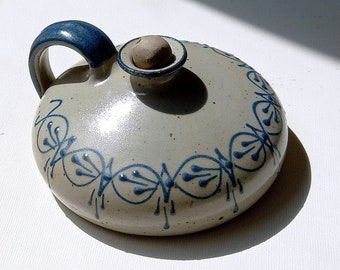 Vintage Ceramics / Oil Lamp Fish Decor / Handmade Nordstrand pottery / 1990s