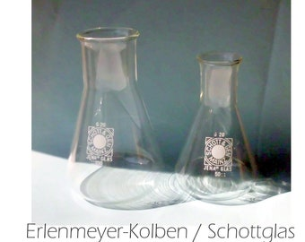 Erlenmeyer Piston / Measuring Piston / SCHOTT & GEN Mainz; Jena'er Glass / 300 ml