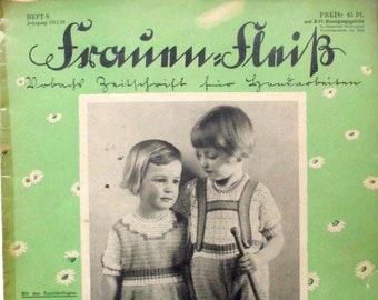 Time document RARITY ! Historical Handmade Newspaper / Women's Fleiß / Issue 9 / Year 1931-32