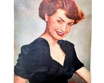 rare! Midcentury: Original advertising poster / art print 29 x 21 cm / 1950s