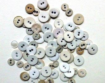 Convolut/Very old buttons/white sewing/1930s-1940s