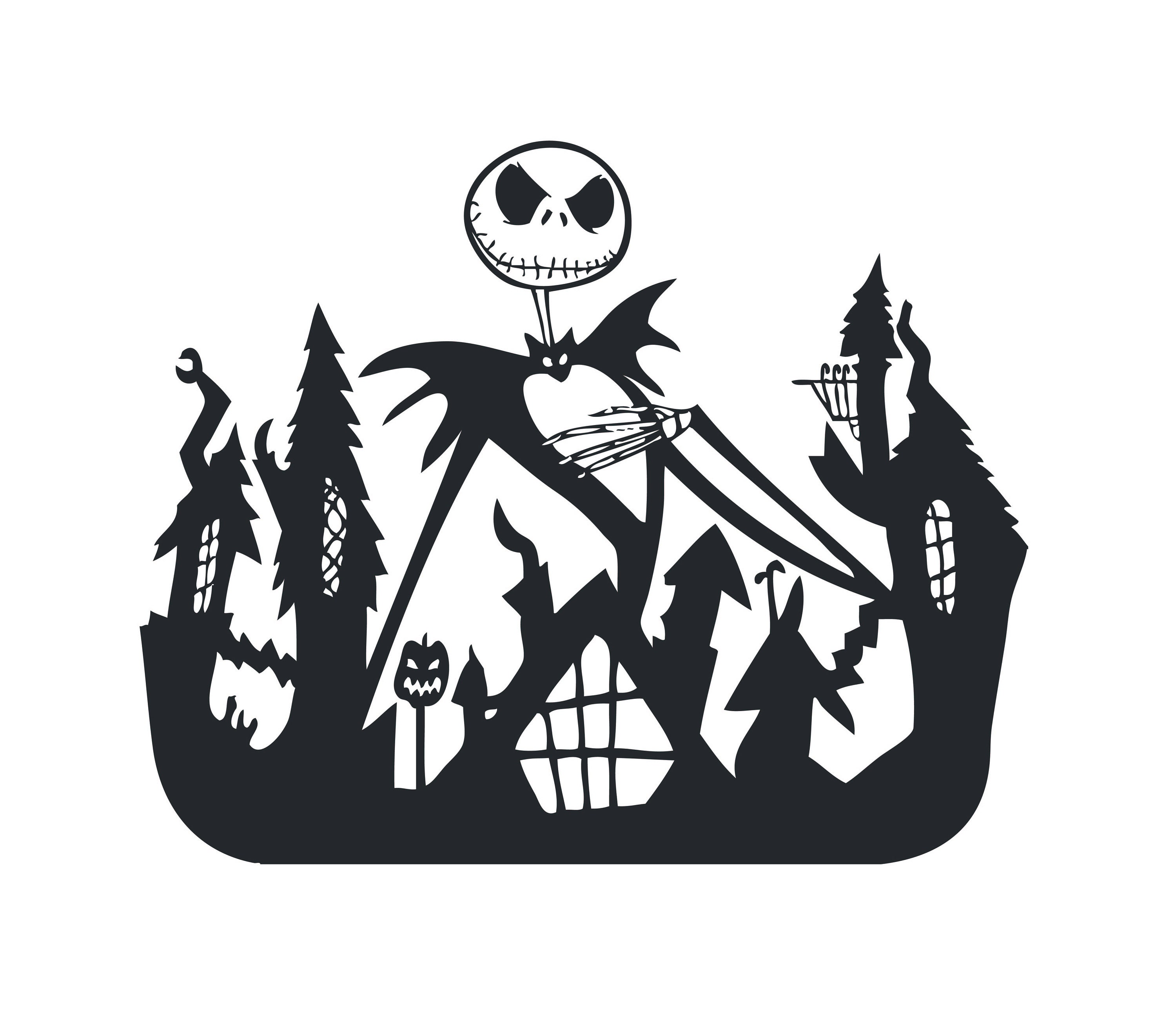 Nightmare Before Christmas Zero Silhouette | www.topsimages.com