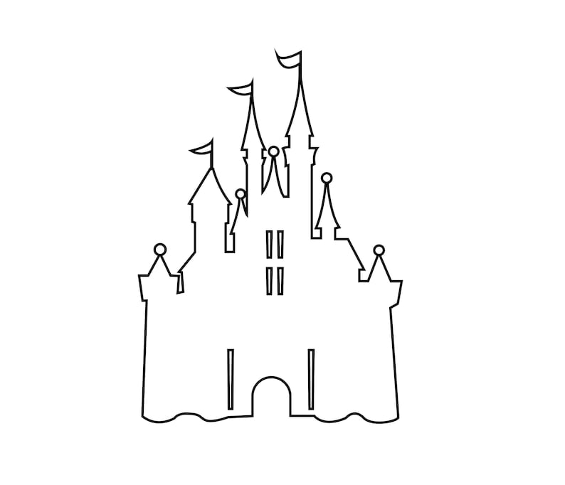 Disney Castle Outline Svg Disney Svg Mickey Mouse Svg Etsy