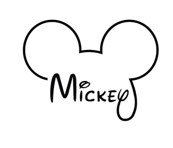 Disney Mickey Mouse Svg Mickey Mouse Head Outline Svg Files