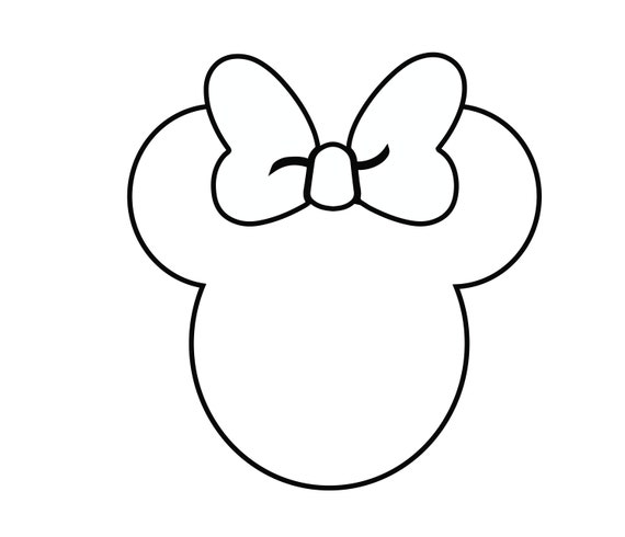 Disney Mickey Mouse Svg Head Outline Files