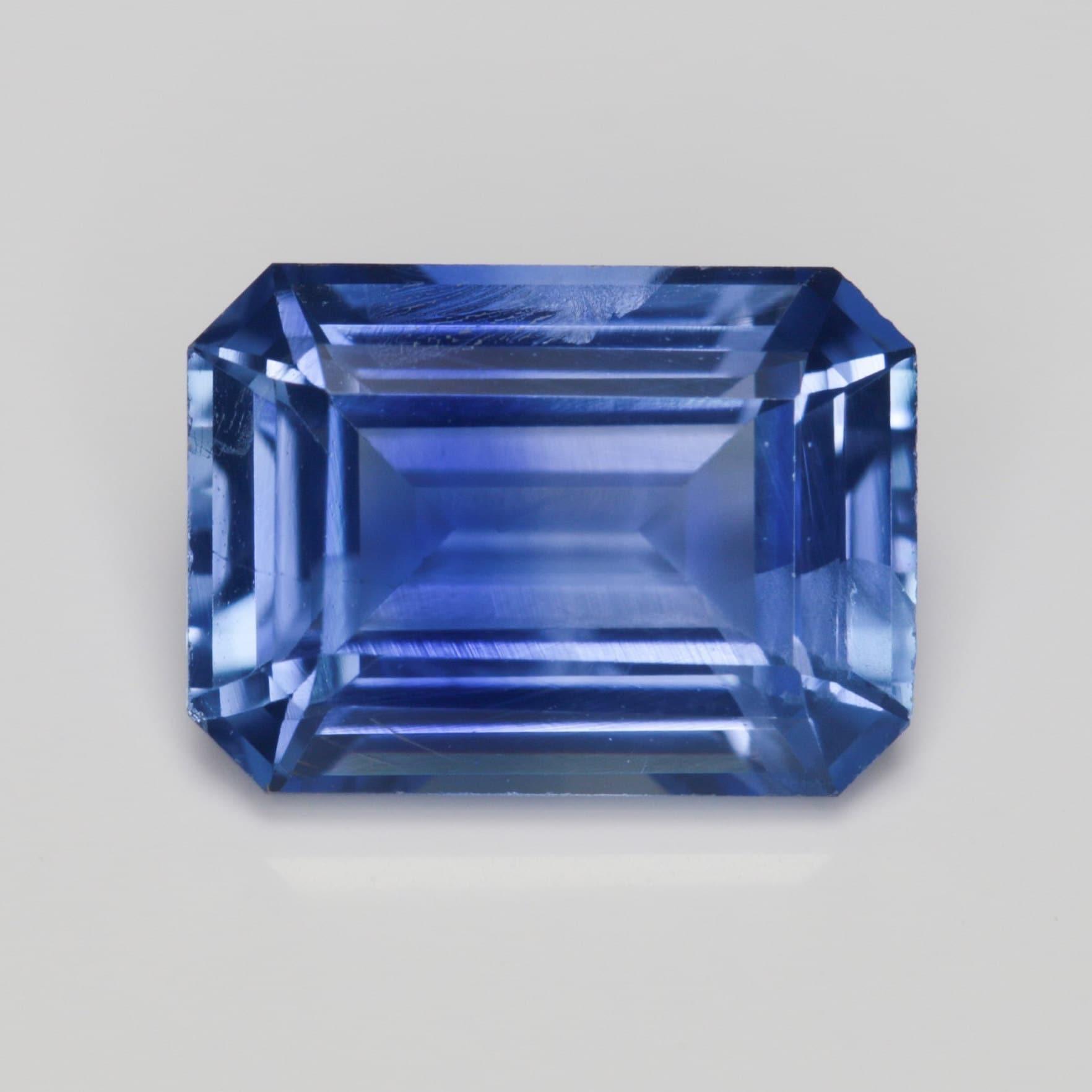 1,113 1,113 1,113 carat bleu saphir très bonne coupe d'émeraude 7 x 5 mm calibré chauffé Pierre lâche b3f9e8