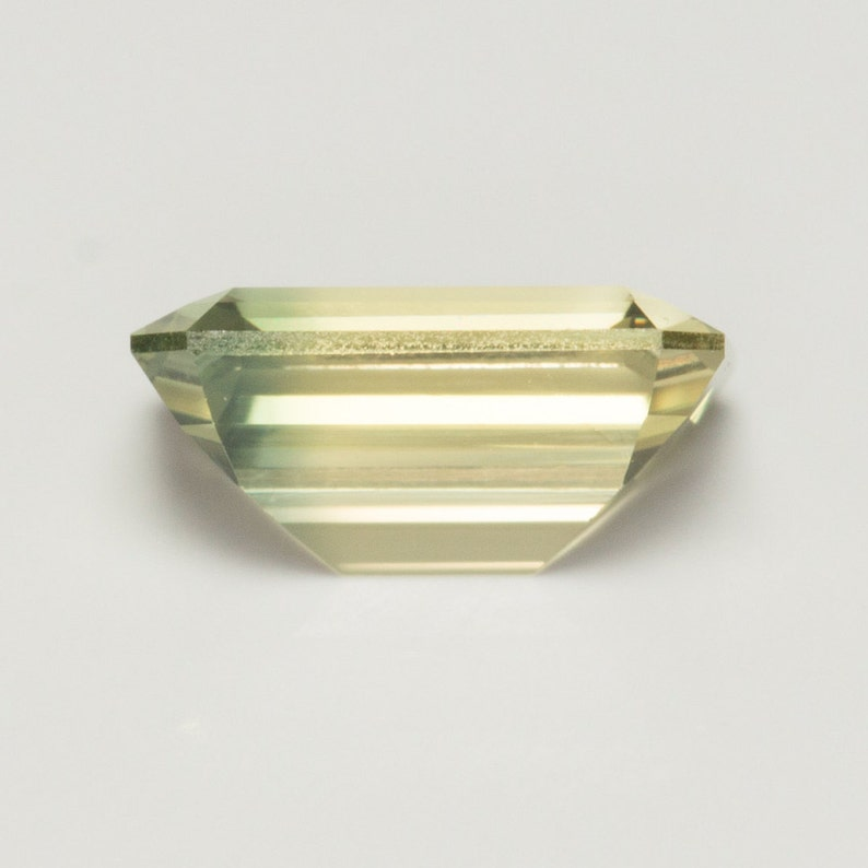 0.698 Carat Yellow Sapphire Excellent Cut Emerald 6 x 4 mm Calibrated Heated Loose Stone