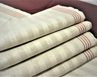 Antique linen towels large long towel kitchen dining room white embroidery monogram Edwardian vintage brocante style country house style