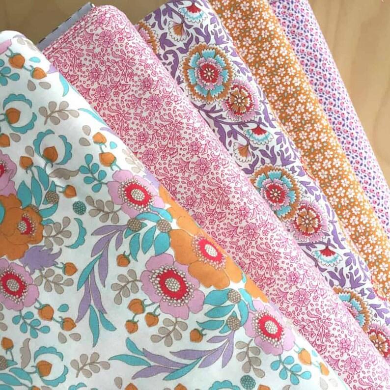 50x55 Tilda Bird Pond Fabric Pack 5 St
