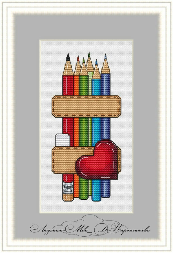 Cross Stitch Pattern Pug DMC Chart Needlepoint Embroidery Printable PDF Instant Download