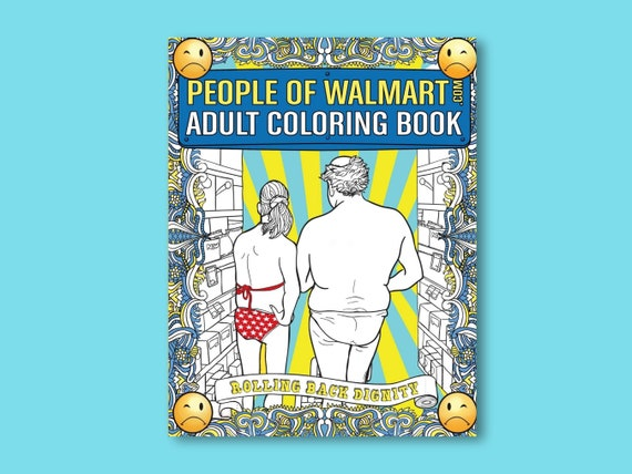 Adult Coloring Book People Of Walmart For Men & Women Of All Etsy