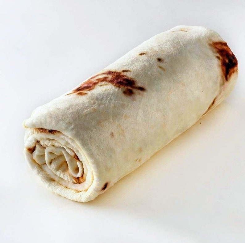 Burrito Blanket  Realistic Tortilla Blanket for Adults and image 0