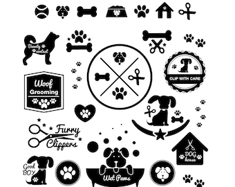 Dog svg,dog bones, dog bath, dog house, dog fur cut, dog hide, love with dogs