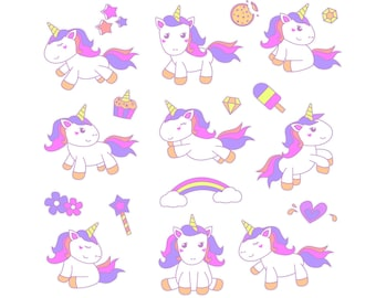 Unicorn SVG, Unicorn Bundle SVG, Unicorn Birthday SVG, Unicorn Clip Art,Unicorn Dab,Printable,Cut Files,Cricut,Digital File,Instant Download