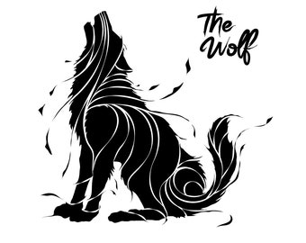 Wolf Svg / Wolf Face Svg / Wolves Svg / Howling Wolf Svg / Wolf Head Svg / Clipart / Decal / Eps/ Dxf / Png / Silhouette / Cut file / vinyl