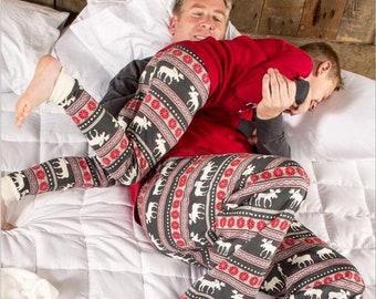 family matching christmas pajamas reindeer pajamas holiday pajamas pajamas for christmas party deer print christmas pajamas
