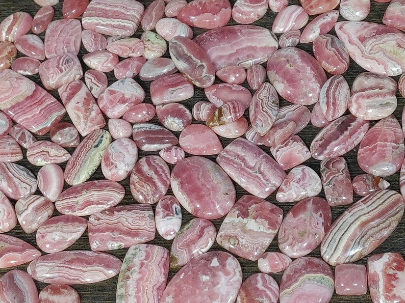 Beautiful Natural Rhodochrosite Cabochon Loose Rhodochrosite Cab Wholesale Mix Lot AAA Quality Natural Argentina Rhodochrosite Cabochon