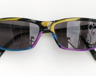 Sunglasses hand painted, black-colored