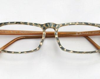 Eyeglass frame Handgem, beige with dark. Turquoise TUPF