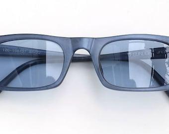 Hand painted sunglasses, steel blue