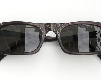 Hand Painted sunglasses, black