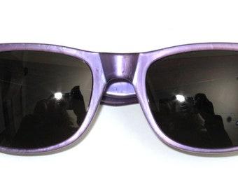 Sunglasses hand Painted, purple