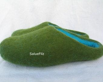 Women + Men's Felt Slippers Felt Shoes Slippers Size 36- 47 Rubber Sole, Felt Sole