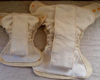 Organic Merino Wool Diaper Cover with Organic Fleece Insert