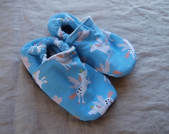 Organic Soft Leather Soled Children's Slippers - Various Sizes - Ready to Ship
