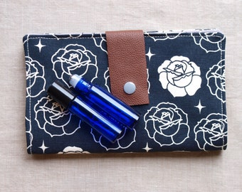 Essential Oil Rollerball Case - Organic Cotton Canvas - Holds 8