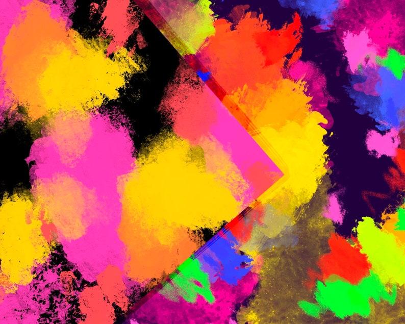 Texture Set Colored Art Background Acrylic Texture Pack Wallpaper Scrapbooking Craft Supplies DIGITAL PAPER Bundle Brush Stroke Paint