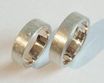 unusual wedding rings in 925 silver