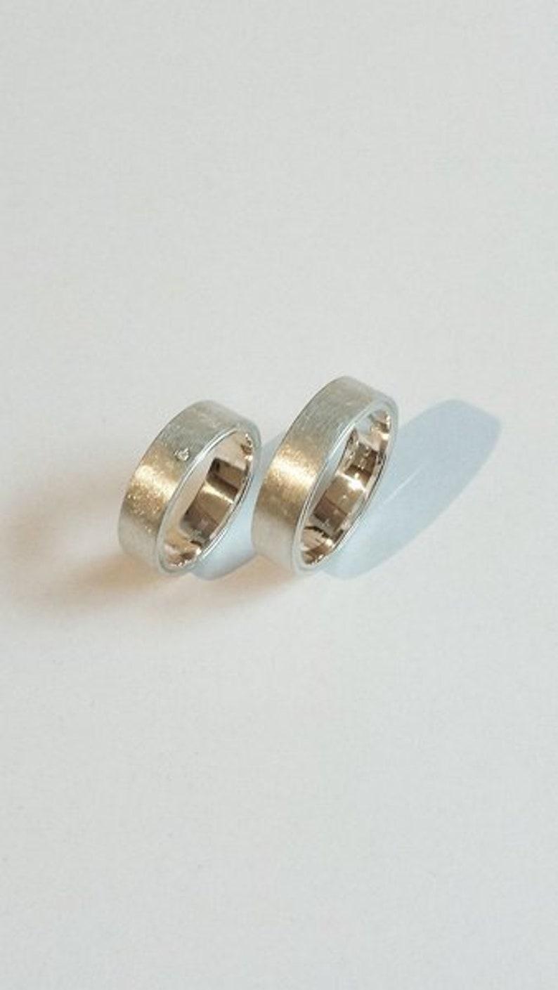 unusual wedding rings in 925 silver image 0