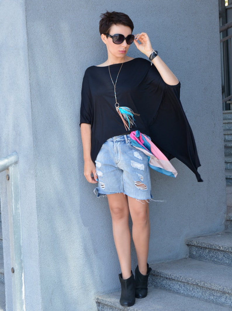 Tunic Geometric oversize black