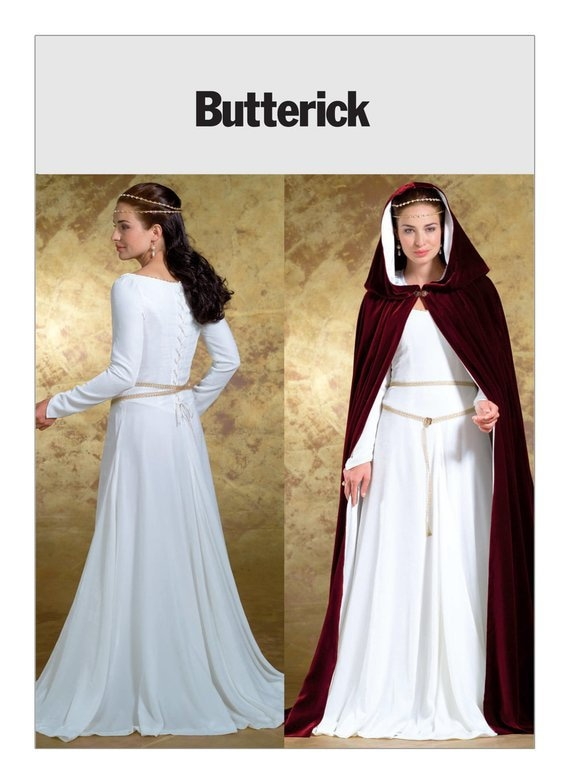 B4571 Butterick Sewing Pattern Misses/' Medieval Costume Princess Renaissance GOT