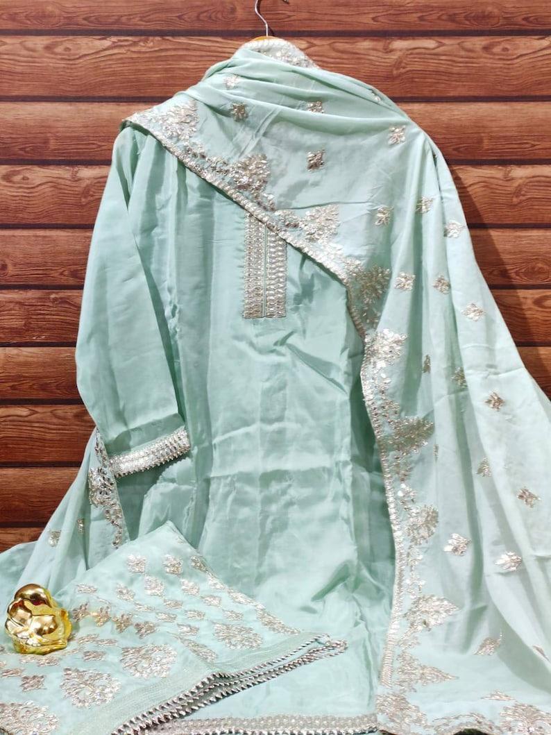 Kurti Palazzo suit kurta suit salwar kameez silk suit bridesmaids dress Indian Pakistan wedding sharara suit