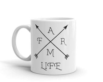 Farm Life Coffee Mug, Farmer Gifts, Farm Coffee Mug, Coffee Mug, Mugs, Farm Mugs, Unique Gifts, Farm Gifts, Farm Life