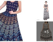 Hand block printed elephant camel design mandala kurtis Multi color Cotton Women kurti Free size for 36 to 44 size