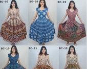 Kurtis Rajasthani Indian Traditional Hand block print Multi color Cotton Women kurti L and XL size