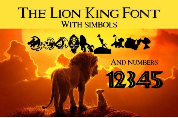 9 Pack Lion King Fonts True Type Font Digital File Instant Download And Free Poster
