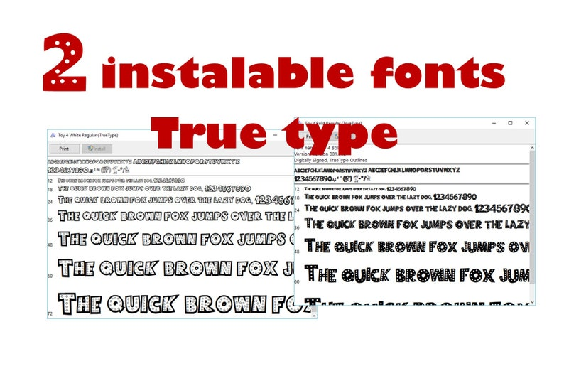 Toy story 4 font inspired fonts True Type font  digital file  instant  download and free figure