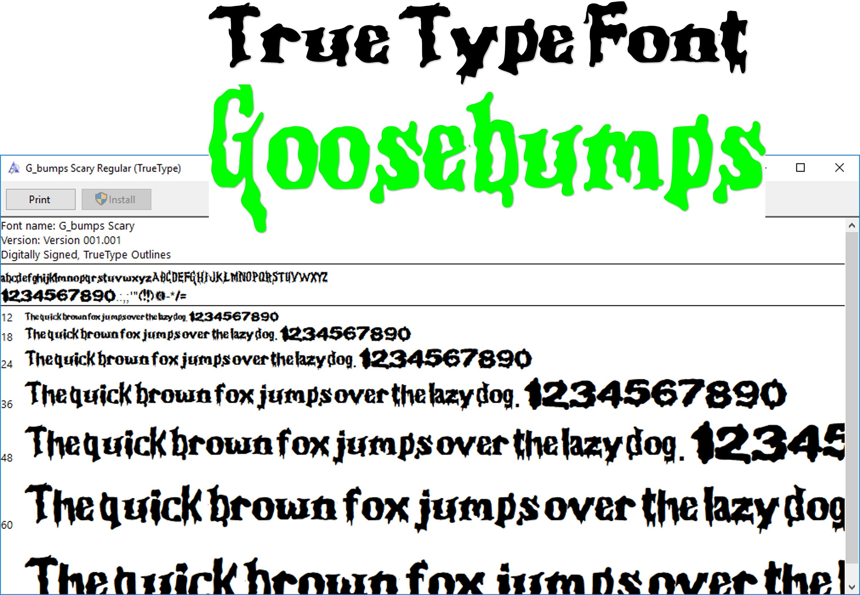 Gbumps inspired font True Type font  digital file  instant download