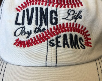 embroidered Living Life by the Seams