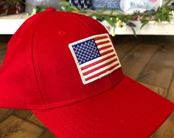 Embroidered American Flag patch Baseball Cap