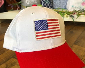 American Flag embroidered patch Baseball Cap
