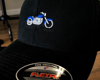 Embroidered Motorcycle Baseball Cap
