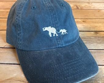 Embroidered Elephant Baseball Hat