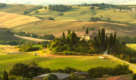 Italian Landscape Photography Tuscan Hills Photography Val Etsy