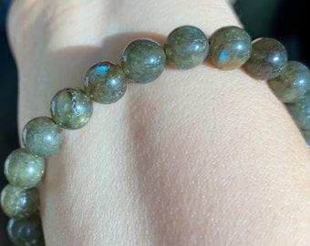 Labradorite Healing Crystal Bead Bracelet